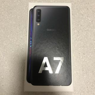 ギャラクシー(Galaxy)のGalaxy A7 ブラック 新品未使用未開封(スマートフォン本体)