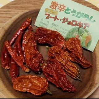 激辛唐辛子 ブートジョロキア 乾燥品(野菜)