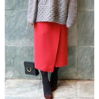 イエナ(IENA)の【最終価格】IENA×Naoko Tsujiデザインラップ無地スカート(ひざ丈スカート)