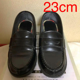 ハルタ(HARUTA)のHARUTA ローファー 黒 学生靴 23センチ EEE(ローファー/革靴)