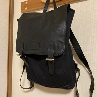 エイチアンドエム(H&M)のH&M キャンバスバック ブラック(リュック/バックパック)