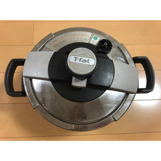 ティファール(T-fal)のT-FAL クリプソベーシック4.5L(圧力なべ)圧力調節重りなし(鍋/フライパン)