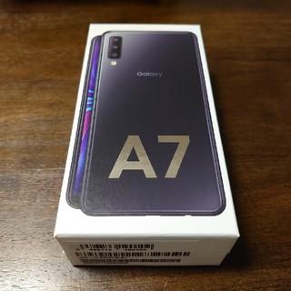 ギャラクシー(Galaxy)の新品未使用 Galaxy A7 ブラック黒(スマートフォン本体)
