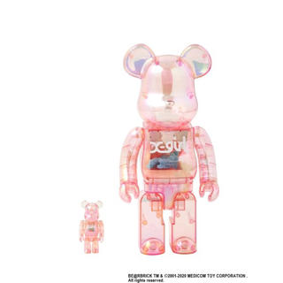 MEDICOM TOY - X-girl × BE@RBRICK 400% & 100%