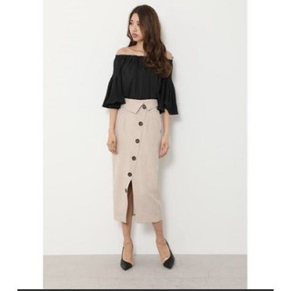rienda - リエンダ ラップボタンハイウエストスカート