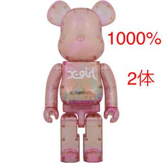 メディコムトイ(MEDICOM TOY)の【Sup様専用】X-girl × BE@RBRICK 1000% 2体(その他)