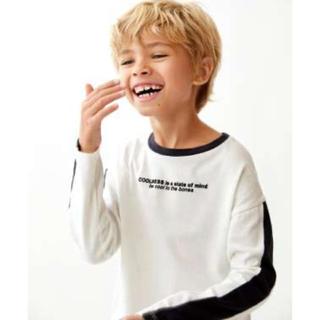 ZARA KIDS - ZARA  KIDS ザラキッズ ストライププリント入りTシャツロングTシャツ