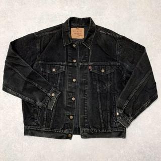 Levi's - ブラック デニムジャケット Gジャン
