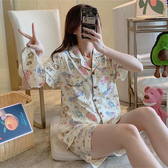 ダッフィー(ダッフィー)の日本未発売  ダッフィーフレンズ パジャマ ルームウェア アイマスク付き ラス1 レディースのルームウェア/パジャマ(パジャマ)の商品写真