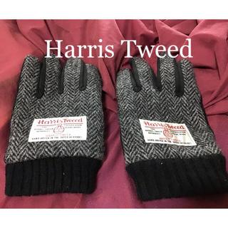 Harris Tweed - ハリスツイード  レディース 手袋 Harris Tweed 黒 ブラック