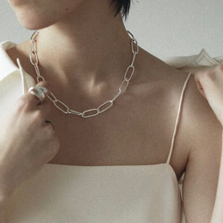 TODAYFUL - Silver925_ Oval chain necklace