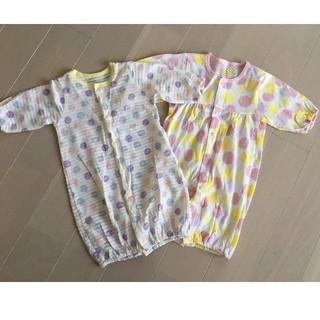 新生児 2WAYカバーオール ドレスオール ロンパース セット 出産準備 春夏