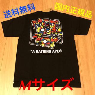 アベイシングエイプ(A BATHING APE)の新品BAPE x MEDICOM TOY CAMO LOGO TEE BLACK(Tシャツ/カットソー(半袖/袖なし))