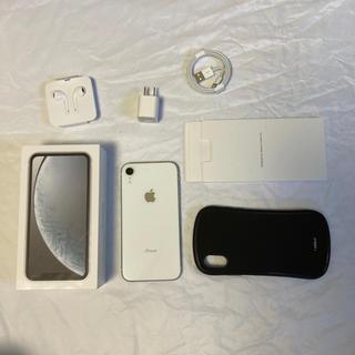 アイフォーン(iPhone)のiPhone XR White 128GB SIMフリー(スマートフォン本体)