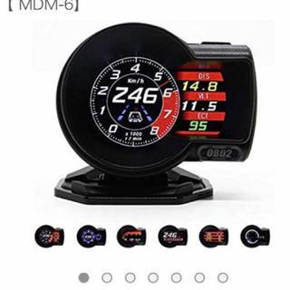 マルチディスプレイメーター OBD2による簡単取り付け スピードメーター