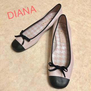 ダイアナ(DIANA)のDIANA ピンク りぼんバレエシューズ パンプス ぺたんこ(バレエシューズ)