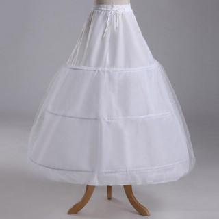 花嫁ドレス 3段フリル ボリューム パニエ フリル ハードチュール 裏地付き(ウェディングドレス)