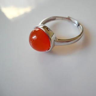 アッシュペーフランス(H.P.FRANCE)の新品 天然石カーネリアンAAA silver925 ring(リング(指輪))