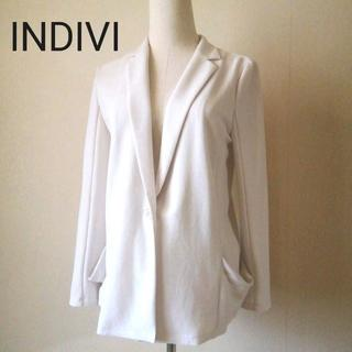 INDIVI - INDIVI インディヴィ 洗える サマー ジャケット サイズ38
