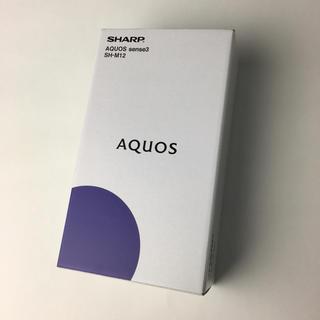アクオス(AQUOS)のAQUOS sense3 SH-M12 ブラック★SIMフリー(スマートフォン本体)