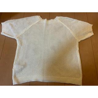 ウィゴー(WEGO)のwego半袖透かしニット(ニット/セーター)