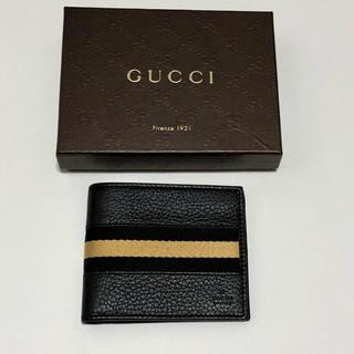 グッチ(Gucci)の新品★グッチ★GUCCI★二つ折り財布★ウォレット★メンズ★ブラック(折り財布)