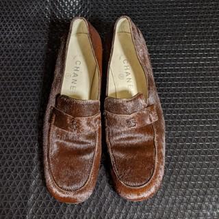 シャネル(CHANEL)のCHANELハラコ地ローファー(ローファー/革靴)