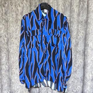 エイソス(asos)のasosレオパード切り替えパターンシャツ(シャツ/ブラウス(長袖/七分))