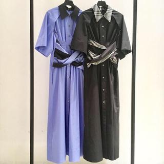 LE CIEL BLEU - ◆完売品◆IRENE アイレネ シャツドレス ブラック LE CIEL BLEU