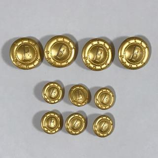 エル(ELLE)の金ボタン 大小10個セット ELLE パーツ (各種パーツ)