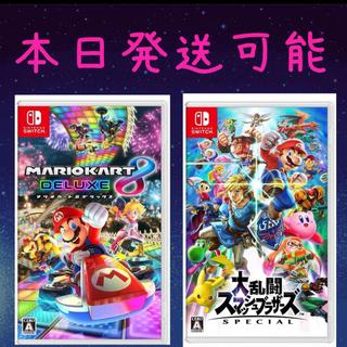 ニンテンドースイッチ(Nintendo Switch)のスマッシュブラザーズスペシャル マリオカート8デラックス(携帯用ゲームソフト)