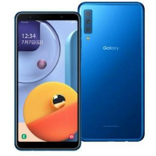 ギャラクシー(Galaxy)の新品 Galaxy A7 ブルー 楽天モバイル対応 simフリースマートフォン(スマートフォン本体)