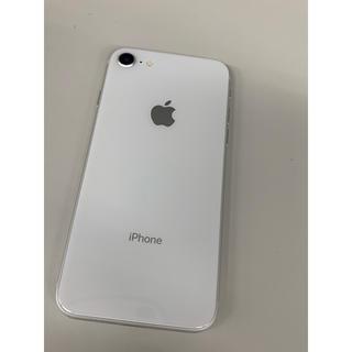 アイフォーン(iPhone)の【中古美品】iPhone8 64GB  シルバー 本体のみ SIMフリー可能(スマートフォン本体)