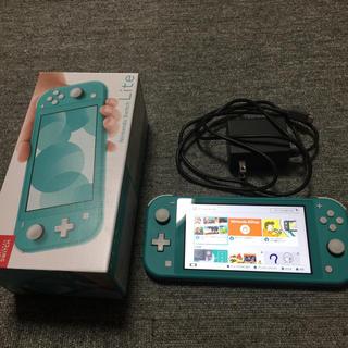ニンテンドースイッチ(Nintendo Switch)の【美品】「Nintendo Switch  Lite ターコイズ」(家庭用ゲーム機本体)