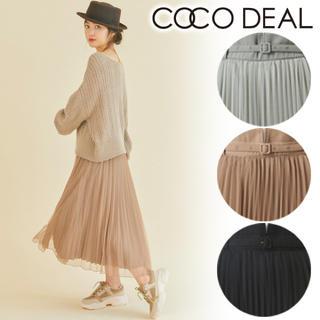 COCO DEAL - ベルト付きハイウエストチュールプリーツスカート