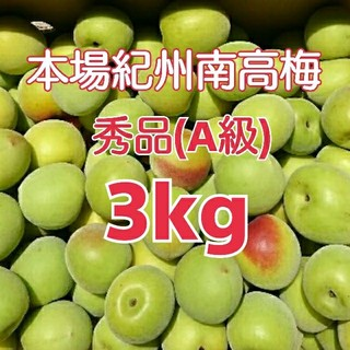 本場紀州南高梅 みなべ町産産地直送♪ 秀品(A級) 青梅 2L 3kg(野菜)