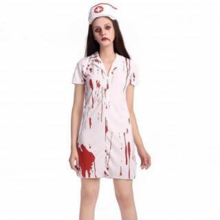 ゾンビ ナース コスプレ ハロウィン 血 ホラー  看護婦  レディース (衣装)