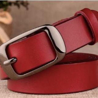 【本革/レッド・黒】ビジネス用 プレゼント用 高品質のベルトです(ベルト)