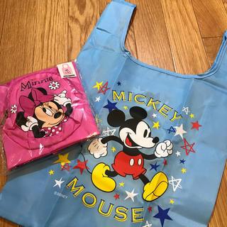 ディズニー(Disney)のレア!ミッキーミニーの折りたたみ★エコバッグ2個(2種)セット(日用品/生活雑貨)