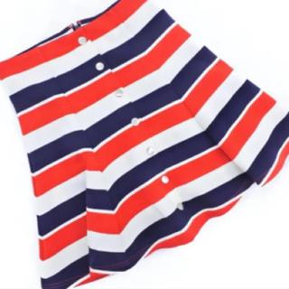 週末値下げ定価7990円新品タグ付きダズリンマルチボーダースカート