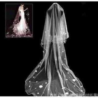 人気ウェディング ベール 結婚式 二次会に お花 ハート コラボ 美しい 綺麗(ウェディングドレス)
