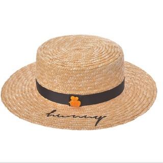 クマノプーサン(くまのプーさん)のディズニー くまのプーさん ハット 帽子 麦わら帽子(麦わら帽子/ストローハット)