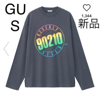 ジーユー(GU)の新品 GU 長袖Tシャツ S ネイビー2枚セット(Tシャツ(長袖/七分))