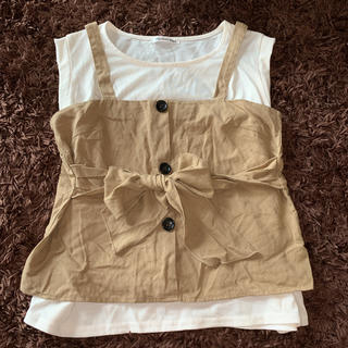 しまむら - ビスチェ付き Tシャツ トップス