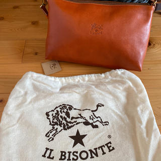 IL BISONTE - 新品 イルビゾンテ ロゴ ショルダーバッグ ヤキヌメ ブラウン 2way