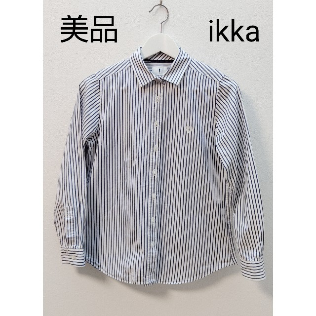 ikka(イッカ)のikka  ストライプ  シャツ レディースのトップス(シャツ/ブラウス(長袖/七分))の商品写真
