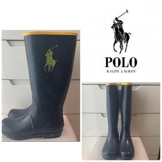 ポロラルフローレン(POLO RALPH LAUREN)のポロラルフローレン ネイビーラバー レインブーツ(レインブーツ/長靴)