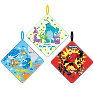 ディズニー(Disney)の[新品 タグ付き] ディズニー・ピクサー   ループタオル  *3枚組*(タオル/バス用品)