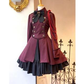 ♡M/ゴスロリ 軍服 ワンピース (衣装)