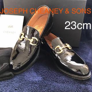 チーニー(CHEANEY)のジョセフ チーニー パテントローファー 美品 サイズ:23cm(ローファー/革靴)